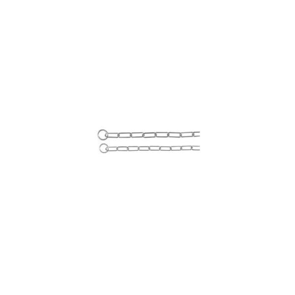 Kvælerhalsbånd kæde 46 cm. / 3,0 mm. Lang led, til langhårede.