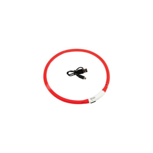 Visio light LED Rød, hals størrelser fra 20-75 cm.