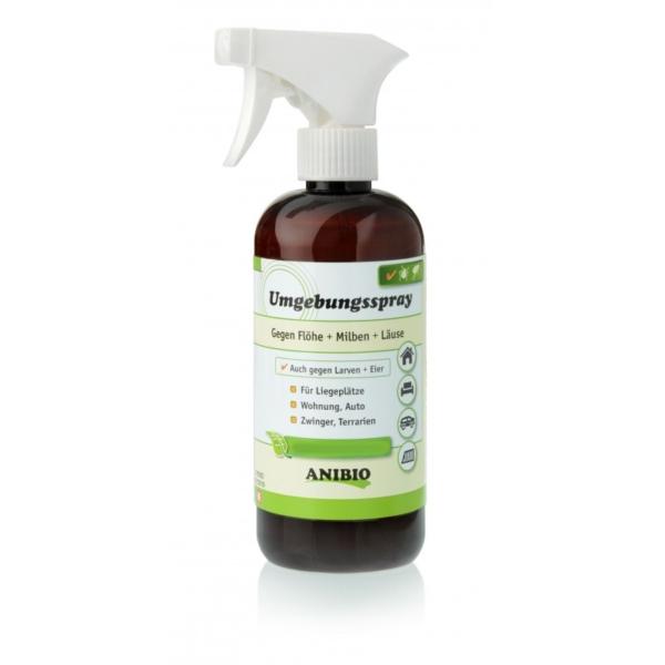 ANIBIO Omgivelser Spray 500 ml. mod lopper, larver, lus og andre skadedyr.
