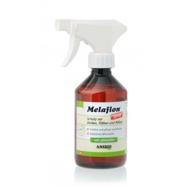 ANIBIO Melaflon Spray 100 ml. Bruges mod flåter, lopper og mider på dyret.