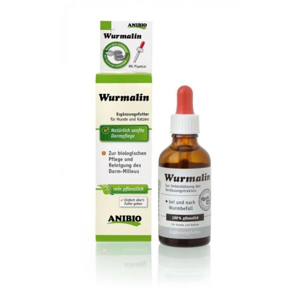 ANIBIO Wurmalin 50 ml. Rent planteprodukt til rengøring og pleje af tarmsystemet.
