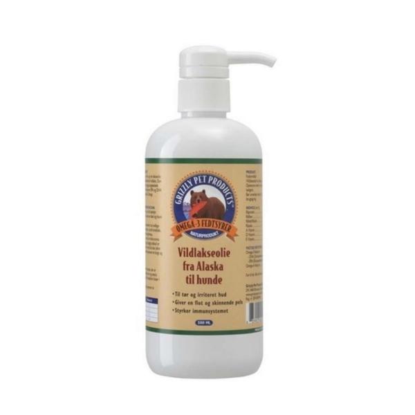 Grizzly Lakseolie til hund og kat, 500 ml.