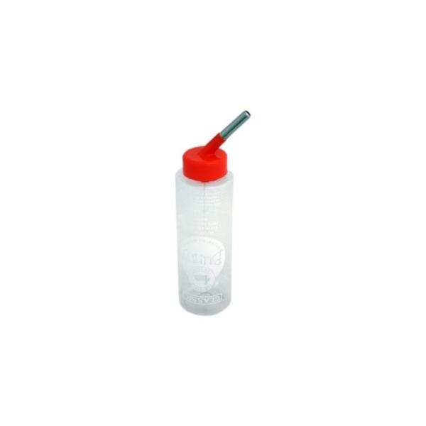 Vandflaske classic 600 ml. til kaniner, hamster, marsvin, duer, papegøje og andre små dyr.