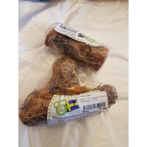 Elgben i bid, tyggeben med meget vildtsmag ca. 15 cm.