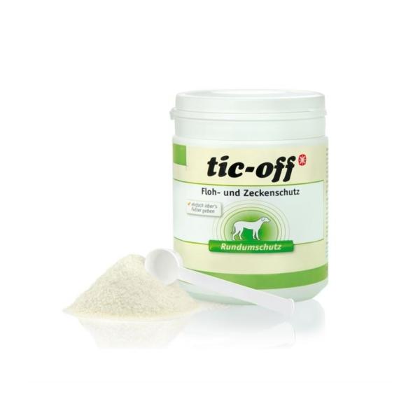 ANIBIO Tic-Off 140 g. Tic-Off doseres i det daglige foder, efter dyrets vægt. I mod tæger og parasit angreb