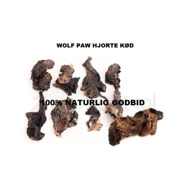Wolf Paw Hjorte Kød 100 g. Hjorte kød, nænsomt tørret.