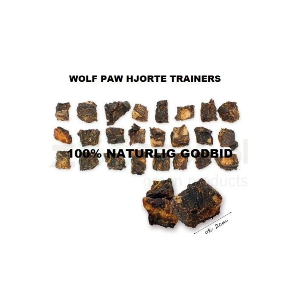 Wolf Paw Hjorte Trainers 100 g. Kød fra hjort, nænsomt tørret