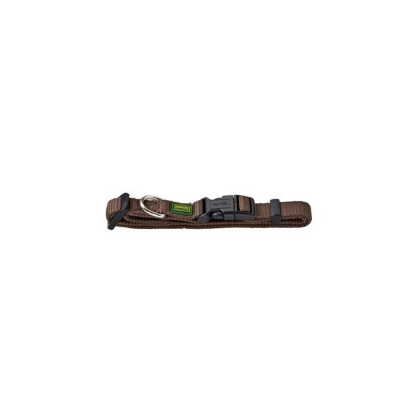 Hunter Halsbånd, Vario Basic. M 20 mm. 35-53 cm. Nylon, Brun