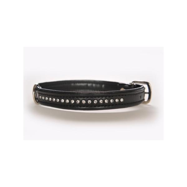 Hunter halsbånd Modern Art Luxus 42/13. 32-38 cm / 16 mm. Med krystal dekorationssten