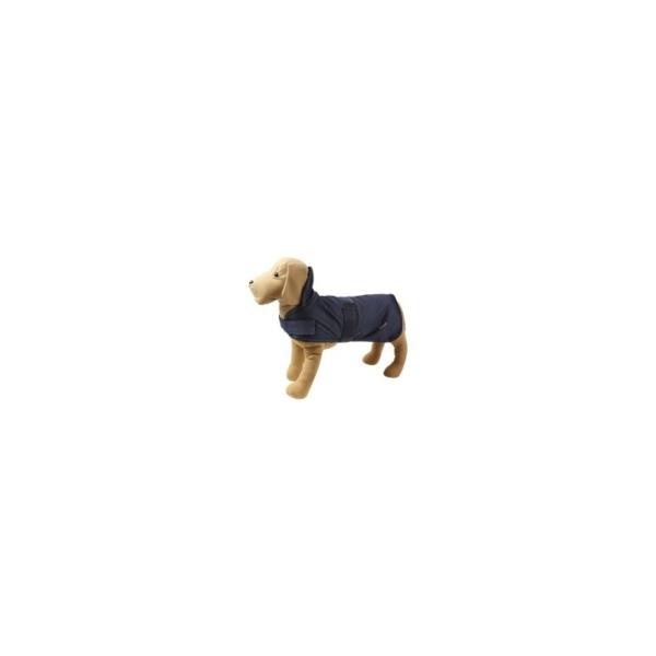 Jakke til hund, Nylon/Fleece, Blå, OZAMI, 25 cm.