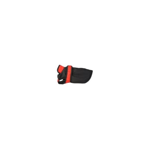 Jakke til hund, Sort/rød 25 cm.