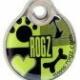 ROGZ ID Tag S Lime. Kan matches med halsbånd, line eller sele.