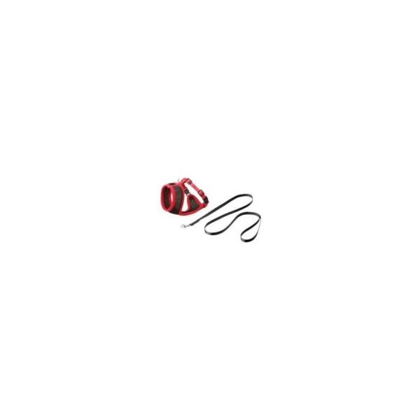 Kattesele, net med Line, 10 mm./108 cm. Medium. Sort/rød. Karlie