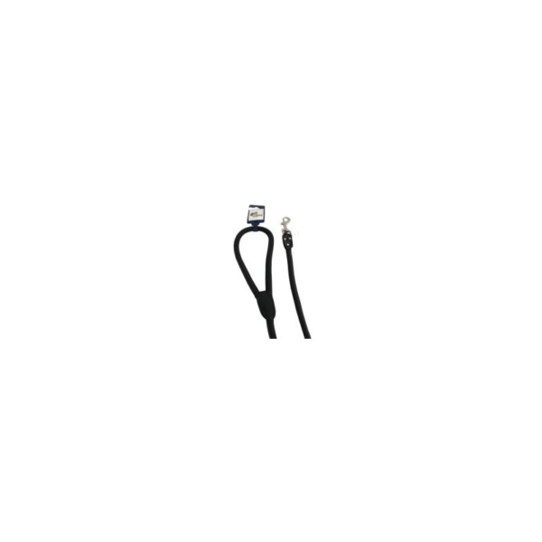 Line Læder, Rundsyet 6 mm/180 cm. Sort