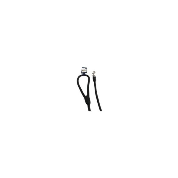 Line Læder, Rundsyet 10 mm/180 cm. Sort