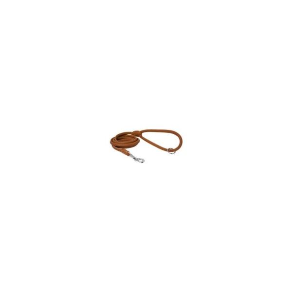 Line Læder, Rundsyet 8 mm/180 cm. Cognac