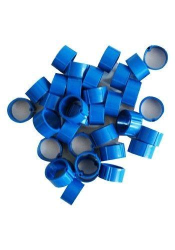 Hønsering plastik. Blå. Ø16 mm.
