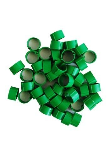 Hønsering plastik. Grøn. Ø16 mm.