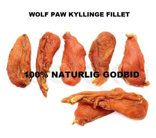 Wolf paw kyllinge fillet. 100 g. Naturlig godbid til hund, nænsomt tørret.