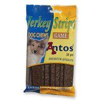 Antos Jerkey strips med vildt, 20 stk. 200 gram.