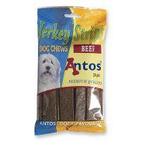 Antos Jerkey strips med oksekød, 20 stk. 200 gram.