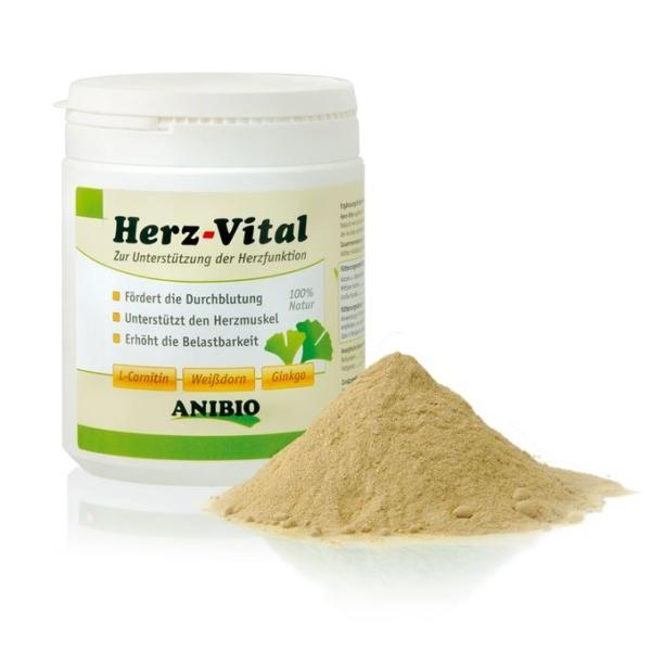 Anibio Herz-vital 330 g. Understøtter hjertefunktionen. Til hund og kat.