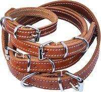 Halsbånd læder, Cognac 18 mm/45 cm. Ozami