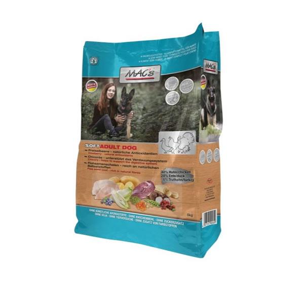 Semimoist hundefoder